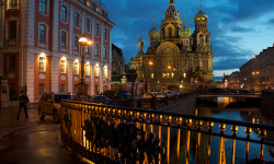 """The Church of the Savior on Spilled Blood (Russian: Храм Спаса на Крови) Khram Spasa na Krovi is one of the main sights of St. Petersburg, Russia. It is also variously called the Church on Spilt Blood and the Cathedral of the Resurrection of Christ (Russian: Собор Воскресения Христова), its official name. """"The preferred Russian name for this great church is [Храм Спаса на Крови] Khram Spasa na Krovi, but each English-language tourist publication seems to list it under a different name. The moniker of """"Spilled Blood"""" is most popular in preference to the likes of the Church of the Resurrection, Church of our Savior on the Blood, Cathedral of the Ascension, Resurrection of the Christ, or Assumption, Church of the Redeemer, or any permutation of the above."""" [1] This Church was built on the site where Tsar Alexander II was assassinated and was dedicated in his memory. It should not to be confused with the Church on Blood in Honour of All Saints Resplendent in the Russian Land, located in the city of Yekaterinburg where the former Emperor Nicholas II (1868-1918) and several members of his family and household were executed following the Bolshevik Revolution."""